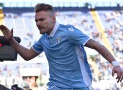 Ciro Immobile, 27 anni, festeggia il suo 14° gol in campionato. LaPresse