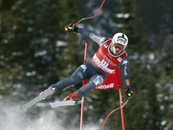 Peter Fill in volo a Kvitfjell. Ap