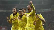 Mario Götze , 24 anni, coi compagni del Borussia Dortmund. Reuters