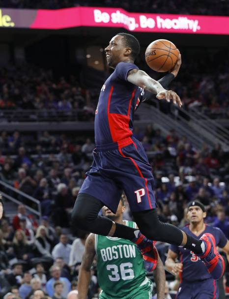 Kentavious Caldwell-Pope dei Detroit Pistons in volo pronto a schiacciare (Ap)