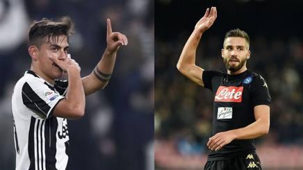 Dybala, 26 anni e Pavoletti, 28.