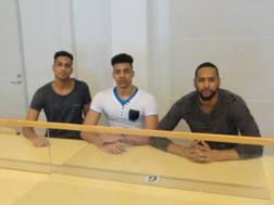 I tre cubani reclusi a Kylmakoski: da sinistra Abrahan Alfonso Gavilan, 21 anni, Ricardo Calvo 20 anni, il capitano Rolando Cepeda, 27