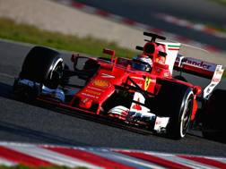 Kimi Raikkonen in azione a Montmelo. Getty
