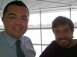 Eric Boullier con Fernando Alonso