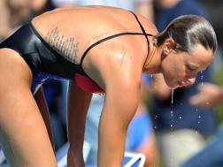 """Federica Pellegrini, 28 anni: sui 100 sl vanta 53""""18, record italiano LAPRESSE"""