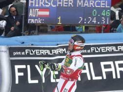 Marcel Hirscher esulta a Kranjska Gora. Reuters