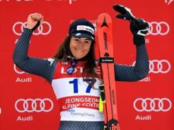 Sofia Goggia, vincitrice del Super G