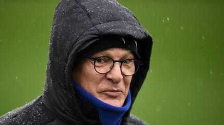 Claudio Ranieri durante un allenamento Leicester. Afp