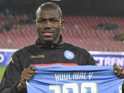 Kalidou Koulibaly, 25 anni, difensore senegalese del Napoli. Ansa