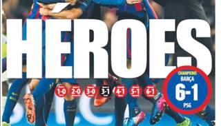 """La Spagna celebra """"gli eroi del Barcellona"""""""