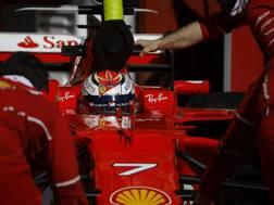 Kimi Raikkonen, iridato 2007 con la Ferrari. Ap
