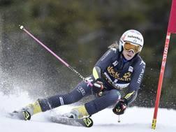 Marta Bassino, terza nella prima manche. Ap