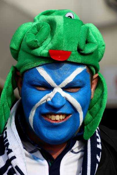 Un fan scozzese all'RBS sei nazioni di Londra (Getty Images)