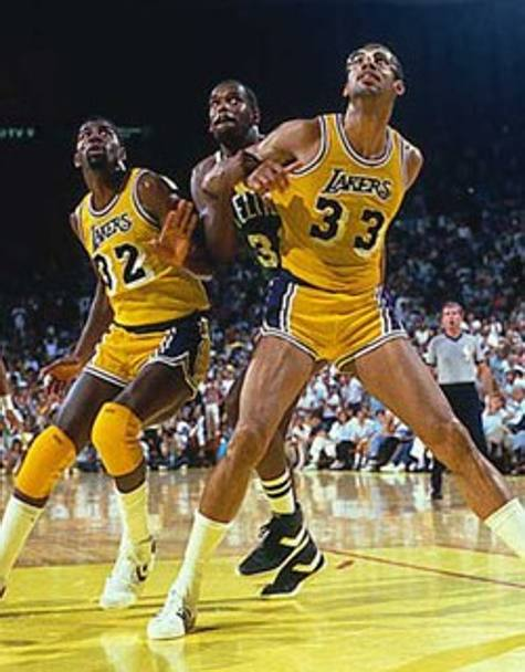 Nei Lakers con Magic Johnson