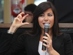 Ilaria D'Amico, 43 anni, giornalista italiana. Ansa
