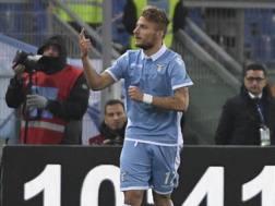 Ciro Immobile, 27 anni, segna il suo 17° gol in Serie A. Ansa