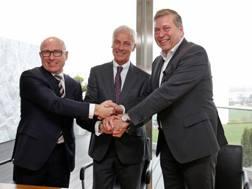 Matthias Muller (VW), Bernhard Maier (Skoda) e Gunther Butschek (Tata)