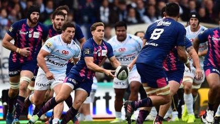 Un momento dell'ultimo match di Top 14 fra Racing e Stade. Afp
