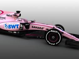 La nuova Force India, color rosa. twitter.com