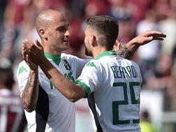 Paolo Cannavaro e Domenico Berardi, 22 anni. LAPRESSE