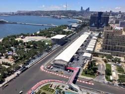 Uno scorcio del paddock di Baku