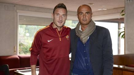 Francesco Totti con il Principe Giannini.