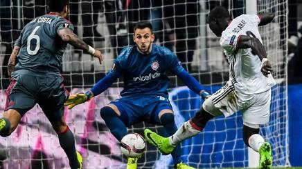 Nicola Leali, portiere dell'Olympiakos in prestito dalla Juventus. Afp