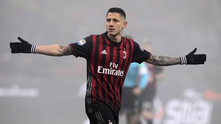 Gianluca Lapadula, attaccante del Milan. Getty