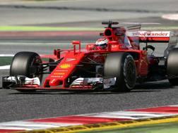 Kimi Raikkonen, miglior tempo dei test 2017. È l'ultimo iridato Ferrari (2007). Epa