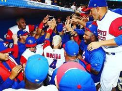 La festa di Portorico nel dugout