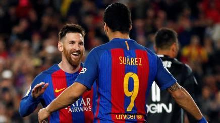 Messi e Suarez, entrambi in gol. Reuters