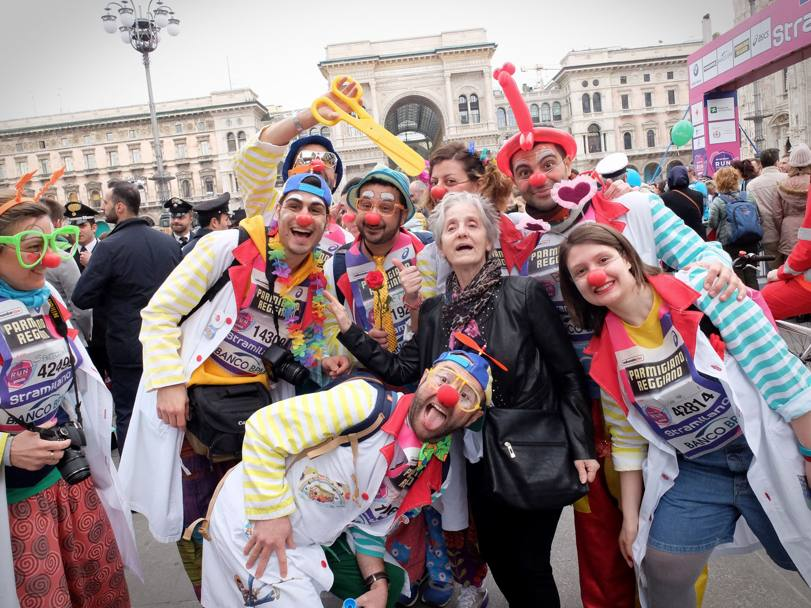 Runner in stile clown (Lapresse)