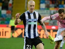 Emil Hallfredsson durante Udinese-Palermo. Getty