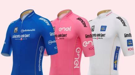 La nuova maglia rosa ENEL prodotta da Santini