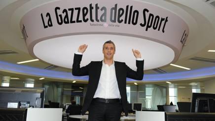 Hernan Crespo, 41, in visita alla Gazzetta dello Sport.