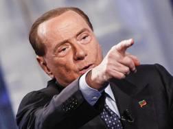 Silvio Berlusconi, presidente del Milan. Ansa