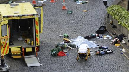 Una delle vittime dell'attentato. Ap