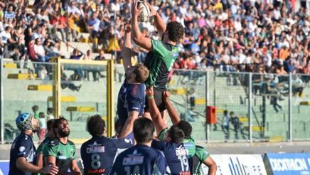 Una touche del L'Aquila Rugby