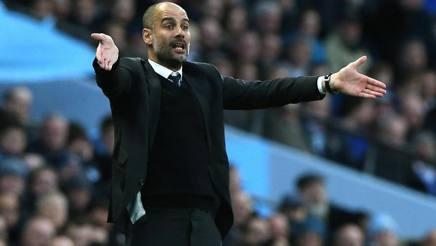 Il manager del Manchester City Pep Guardiola. Epa