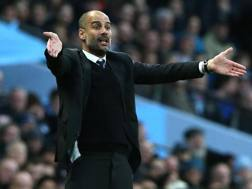 Il manager del Manchester City Pep Guardiola. Epa