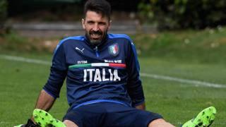 Il portiere e capitano della Nazionale Gigi Buffon, 39 anni. Getty