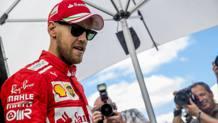Sebastian Vettel, terza stagione alla Ferrari. Epa