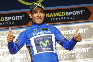Nairo Quintana, recente vincitore della Tirreno-Adriatico. Bettini