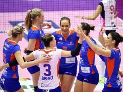 Il gruppo delle giocatrici di Bolzano, squadra rivelazione dei prossimi playoff RUBIN/LVF