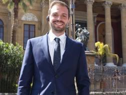 Il presidente del Palermo Paul Baccaglini davanti al Teatro Massimo. Getty