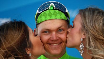Il lettone Toms Skujins, secondo giorno da leader. Afp