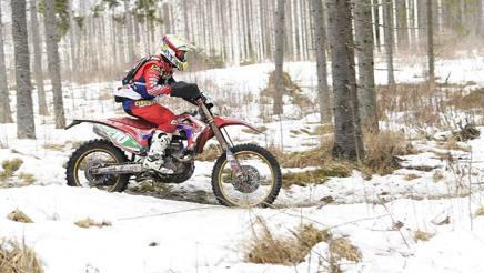 Davide Soreca in azione in Finlandia