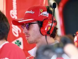 Antonio Giovinazzi, terzo pilota Ferrari. Lapresse