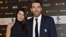 Ilaria D'Amico e Gigi Buffon. Ansa