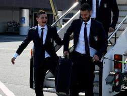 Marco Verratti, qui con Antonio Candreva in Nazionale. Getty